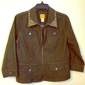 Jackets & Blazers - Green ruby rd. Denim jacket